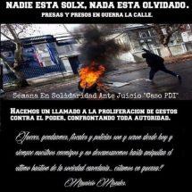 [16-21 Οκτώβρη] Διεθνης βδομαδα αλληλεγγυης στα αιχμαλωτα συντροφια της υποθεσης PDI στη Χιλη