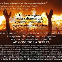Ιταλία: Αφισα αλληλεγγύης στους συληφθεντες της επιχειρησης scripta manent