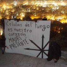 Χειρονομια μνημης προς τιμην του συντροφου Mauricio Morales